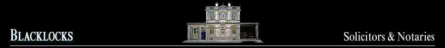 Blacklocks Solicitors and Notaries: 89 Constitution Street, Edinburgh EH6 7AS ~ LP 2 Leith